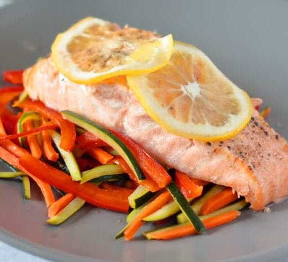 INSTANT POT LEMON PEPPER SALMON #diet #lowcarb