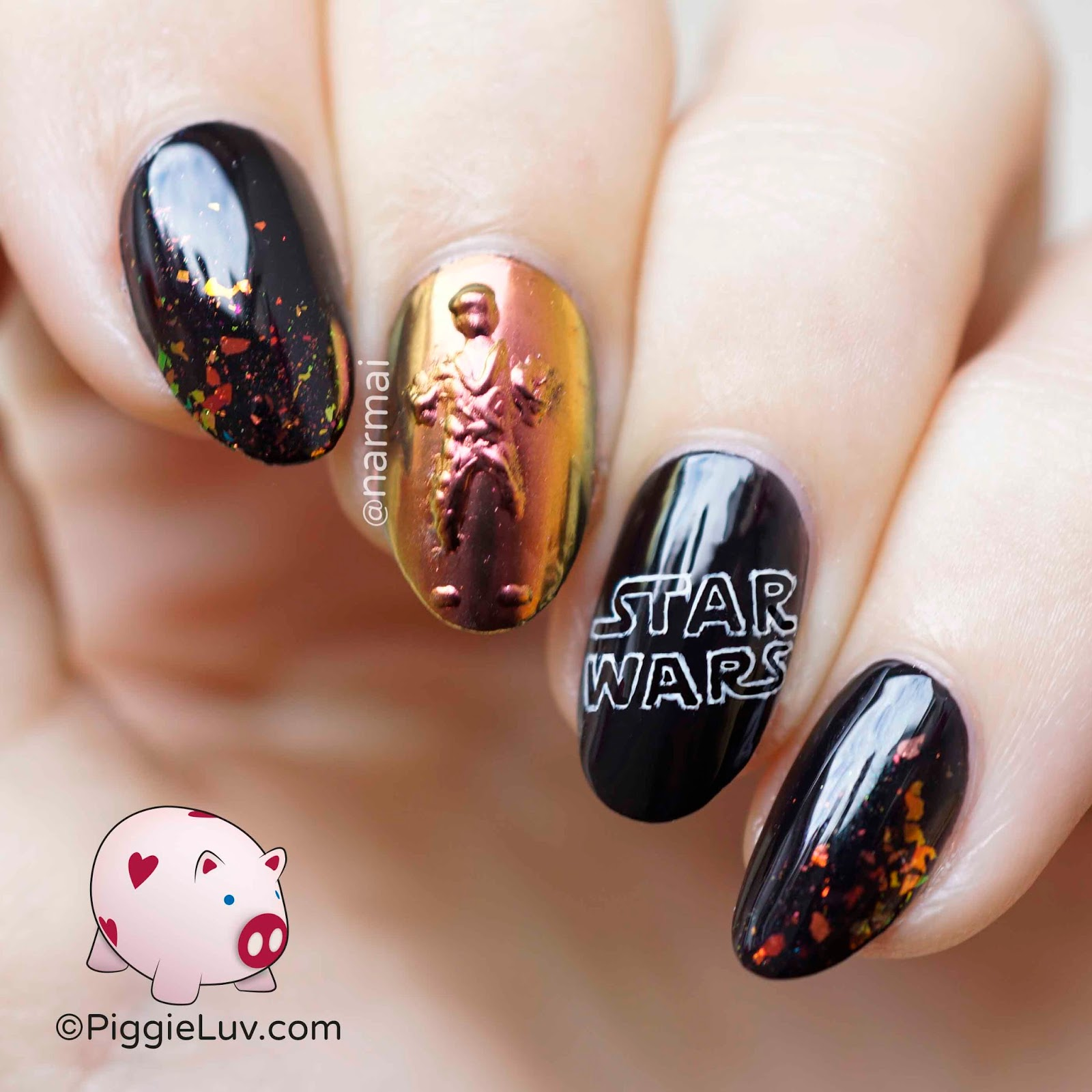 Han Solo May The Fourth Be With You: PiggieLuv: Han Solo In Carbonite Nail Art