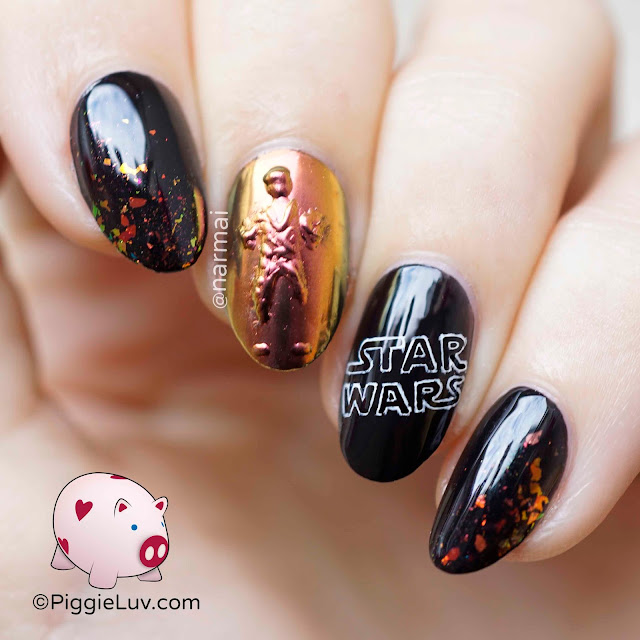 PiggieLuv: Han Solo In Carbonite Nail Art