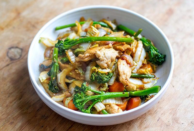 CHICKEN CABBAGE STIR-FRY #dinner #chicken #easy #food #healthyrecipe