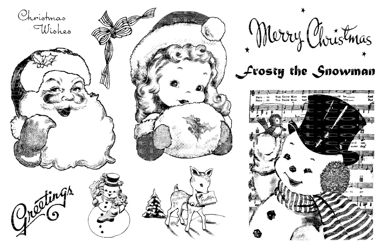 Frosty Friends I Love The Sweetness Of Vintage Christmas Cards Secular Imagery Was Dreamy And Cuteso Sugary Sweet My Teeth Hurt Just To Look At