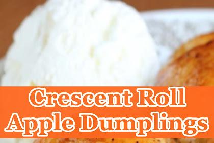 Crescent Roll Apple Dumplings
