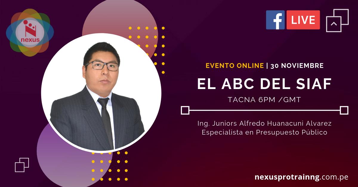 🔴 EVENTO ONLINE | EL ABC DEL SIAF (30 DE NOVIEMBRE - FACEBOOK LIVE)