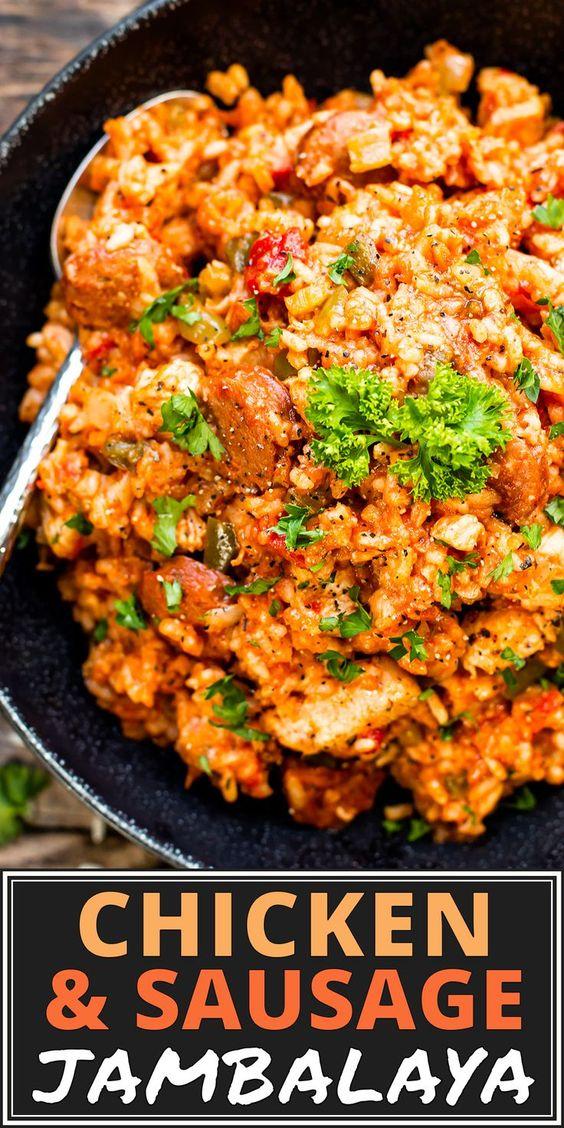 Sausage & Chicken Cajun Jambalaya