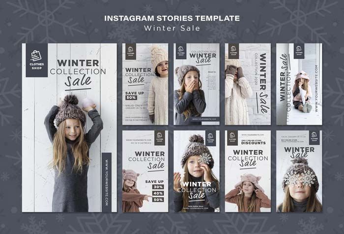 Cute Child Winter Collection Sale Instagram Stories