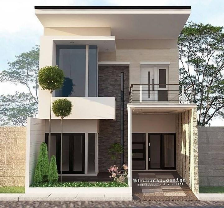 Desain Rumah 2 Lantai Lengkap Sederhana Tampak Depan Minimalis Desainer Interior Indonesia