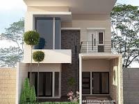 Desain Rumah 2 Lantai Lengkap Sederhana Tampak Depan Minimalis