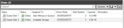 Both Shared VHDX disk showing in Failover Cluster Manager