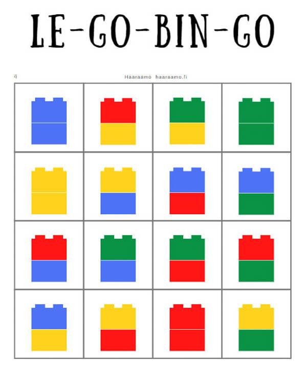 Lego-bingo