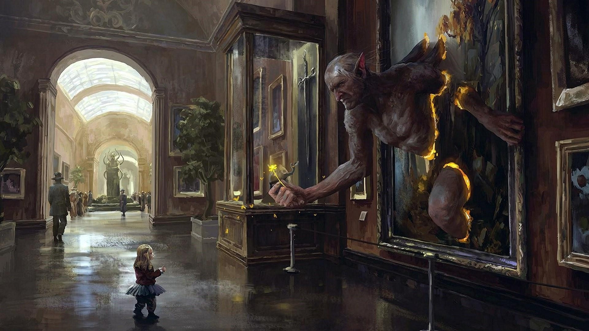 01-Magic-at-the-Museum-Quentin-Fantasy-Digital-Illustrations-with-a-bit-of-Surrealism-www-designstack-co