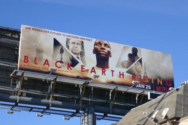 Black Earth Rising series premiere billboard