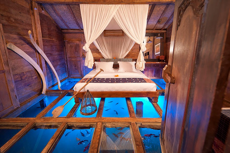 5. The Glass Floor Udang House, Bali, Indonesia - 26 Of The Coolest Hotels In The Whole Wide World