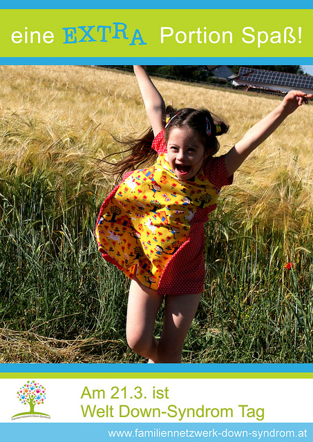 Poster Welt Down Syndrom Tag mit Jolina im Feld