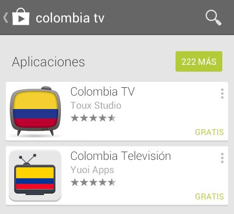Buscar aplicación en google play