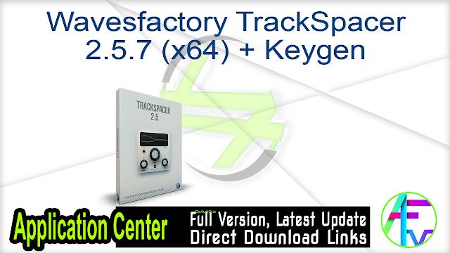 Wavesfactory TrackSpacer 2.5.7 (x64) + Keygen