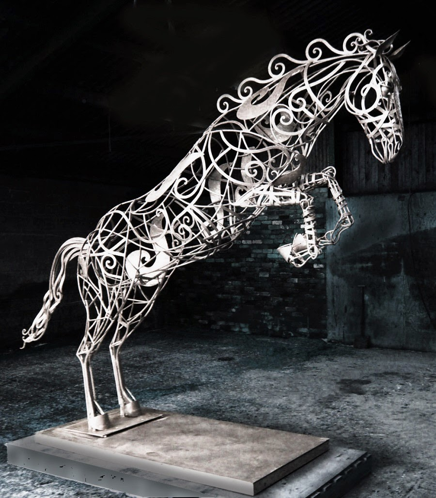 Simply Creative: Welded Steel Animal Sculpture By David