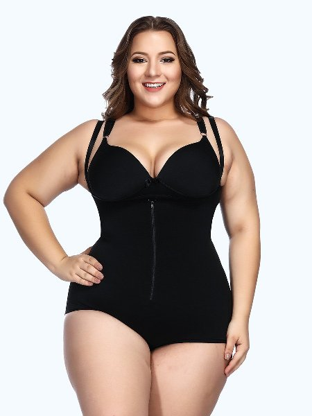 Loverbeauty Adjustable Crotch Hooks Tight Bodyshort Shapewear