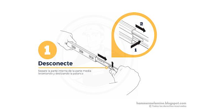 Cómo Instalar correderas telescópicas o de extracción total