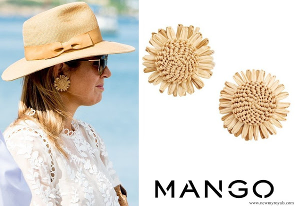 Queen Maxima Jewel wear MANGO Floral Earrings