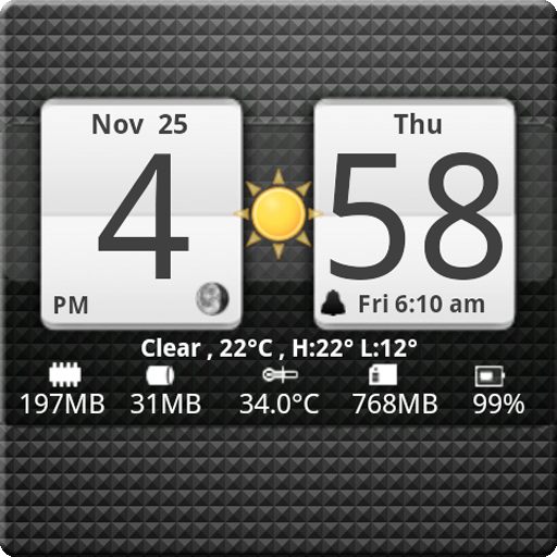 Factory Widgets: Sense Analog Clock Widget 24 on the