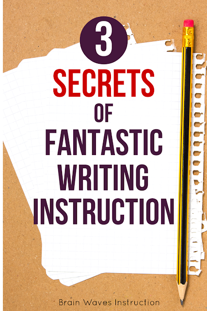 What to learn the 3 best ways to get your students to produce their very best writing?  Learn all about them and easy ways to incorporate the secrets into your own writing lessons.