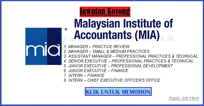 jawatan kosong malaysian institut of accountants apply job here