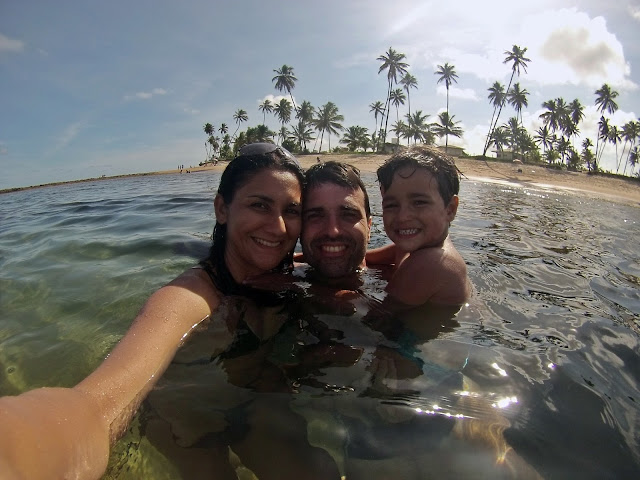 Mergulho na praia de Guarajuba