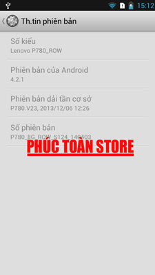 Rom gốc Lenovo P780 tiếng Việt done alt