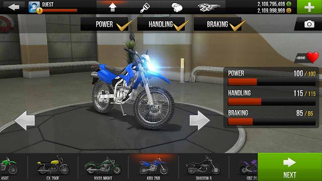 Cheat traffic rider semua sepeda motor terbuka semua