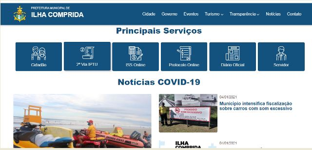 Ilha Comprida disponibiliza carnê de IPTU 2021 on line