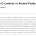 Conteúdo natural de vitamina D em produtos de origem animal.