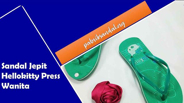 Peluang Usaha | Pabrik Sandal Jepit | Sandal Wanita | Sandal Jepit Hellokitty Press Wanita