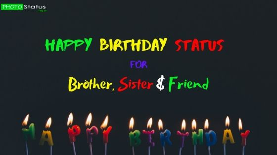 Incredible 20 New Happy Birthday Status For Brother Sister Friend Personalised Birthday Cards Beptaeletsinfo
