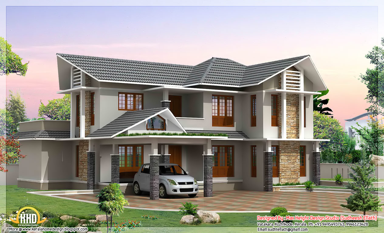 May 2012 kerala home design and floor plans for Small double story house plans