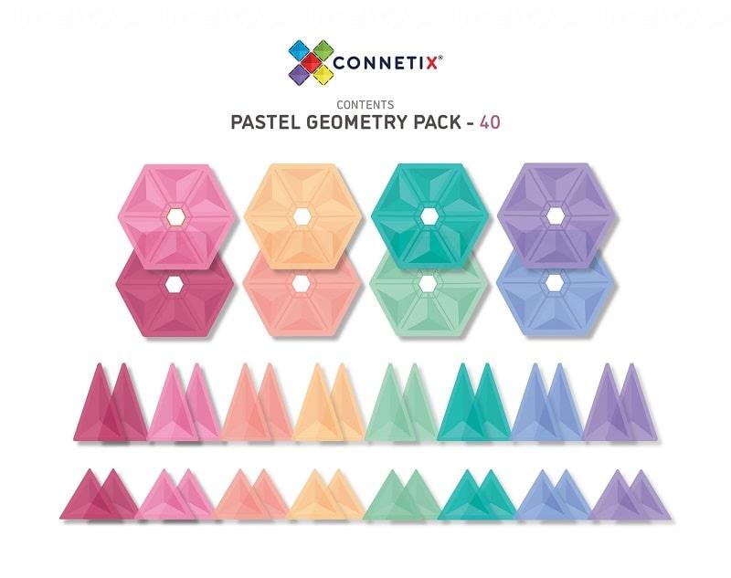 connetix pastel geometry set