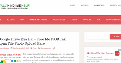 Free The Funk Blogger Template