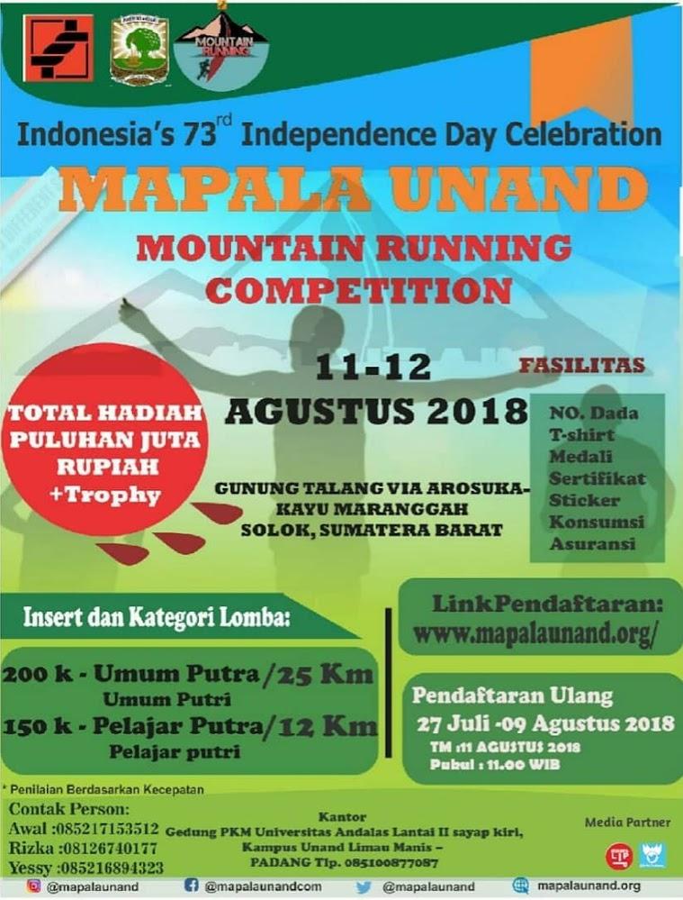 Mapala Unand Mountain Running Competation • 2018