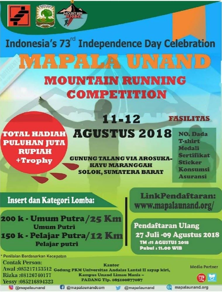 Mapala Unand Mountain Running Competition • 2018