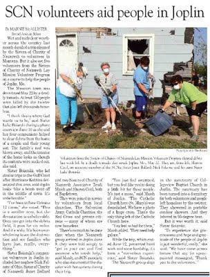 SCN Volunteers Aid People in Joplin, Mo.