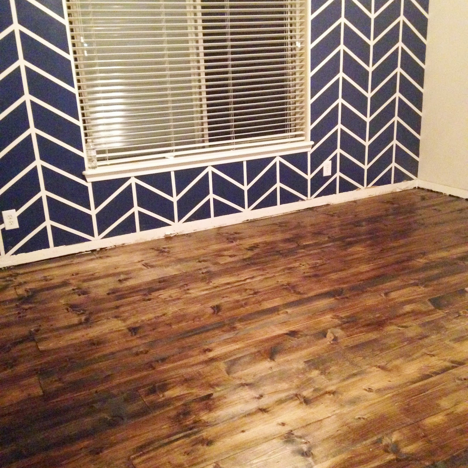 Grand Design: DIY pine plank wood flooring