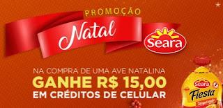 Cadastrar Promoção Seara Natal 2017 Compre Ganhe Créditos Celular