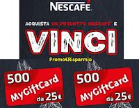 """Concorso """"Nescafè Nazionale 2021"""" : in palio 500 MyGiftCard da 25 euro"""