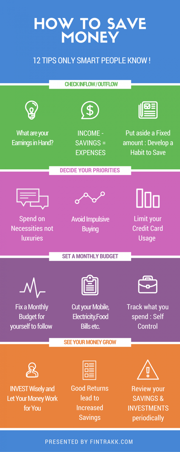How To Save Money? 12 Tips Only Smart People Know! #infographic #Save Money #Tips #How To Save Money
