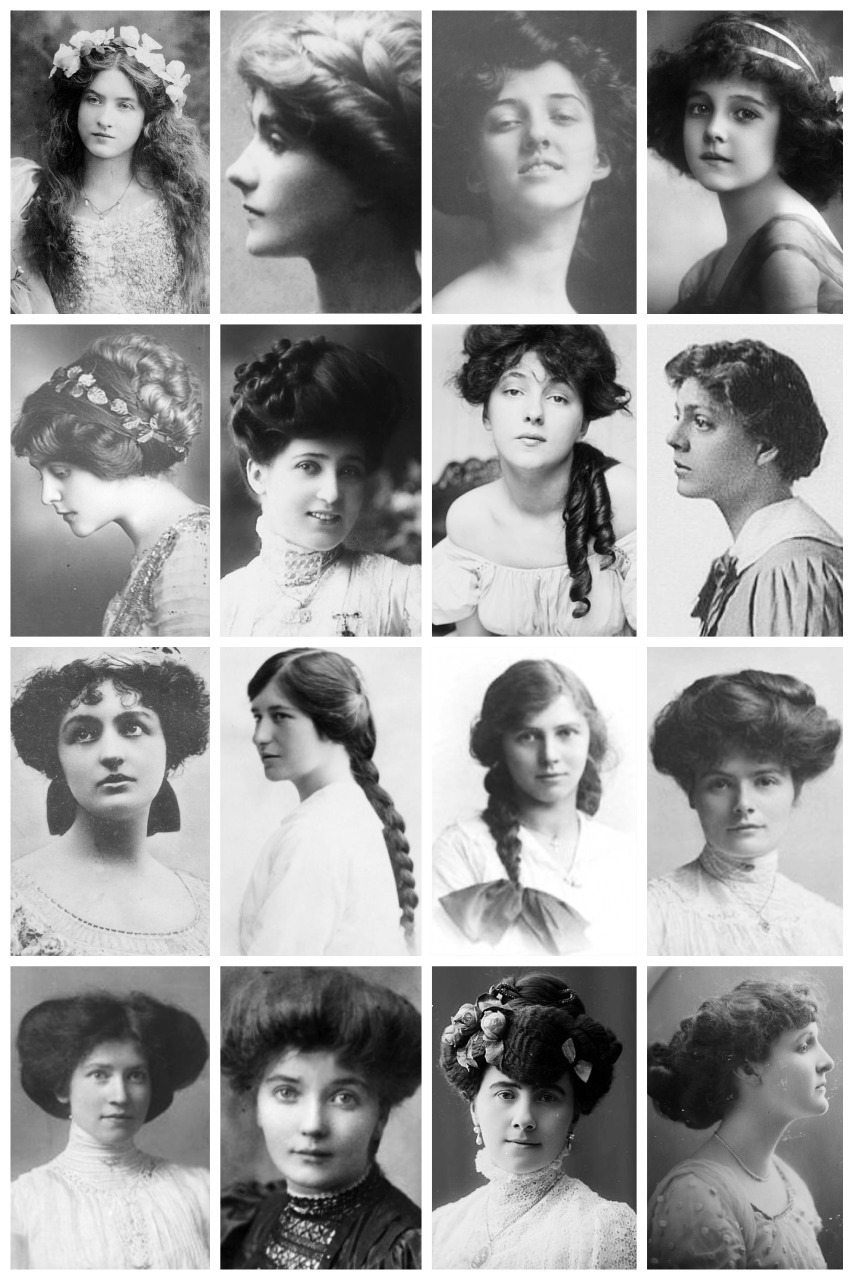 early 1900s hairstyles vintage portraits depict women s hairstyles from the