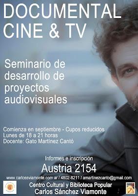 Seminario: Desarrollo de proyectos documentales para cine y TV