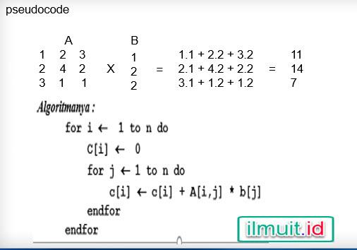 Perkalian matrik X vektor pascal