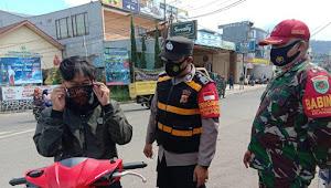 Binmas Polsek Pangalengan Polresta Bandung Imbauan Disiplin 5M dan Wajib Masker