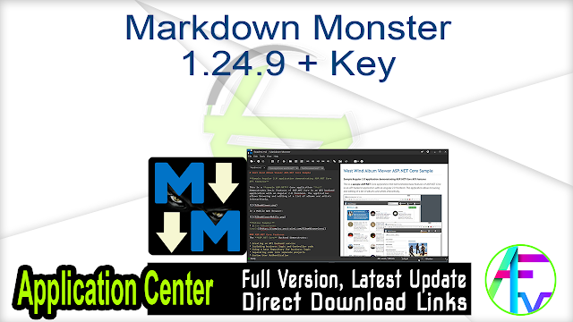 Markdown Monster 1.24.9 + Key