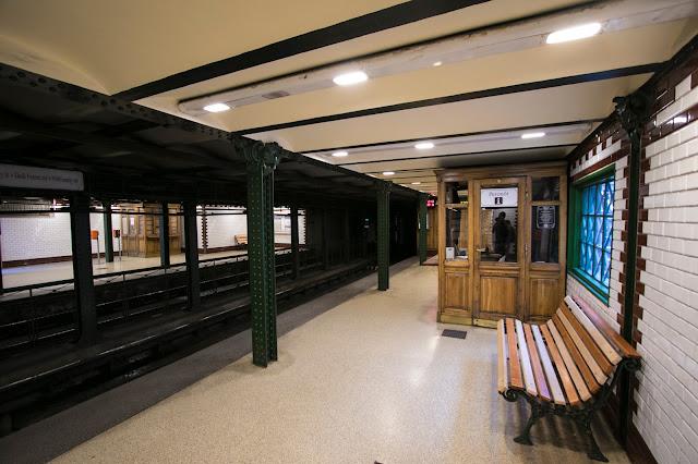 Vecchia stazione della metro a Budapest