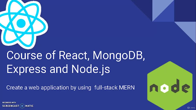 Create a web app with React, MongoDB, Express and Nodejs